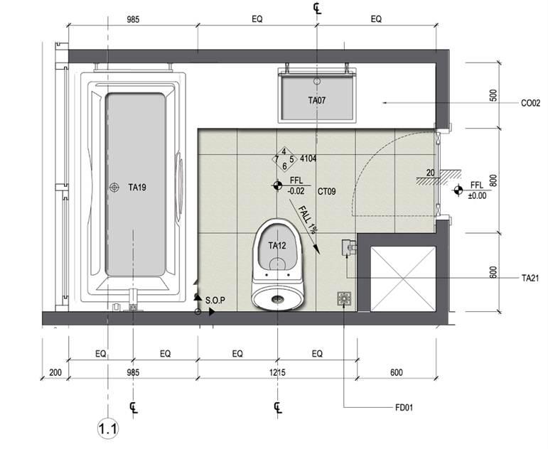 mẫu bản vẽ nhà vệ sinh