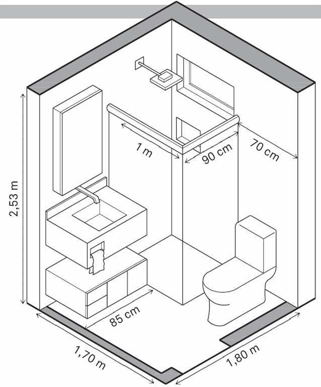 bản vẽ kích thước tối thiểu nhà vệ sinh